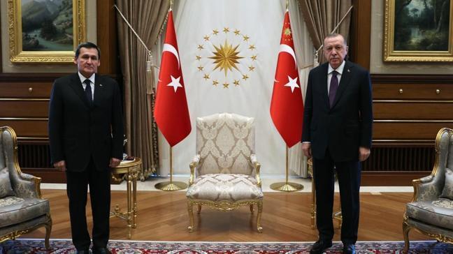 Başkan Erdoğan Türkmenistan ve Azerbaycan Dışişleri bakanlarını kabul etti