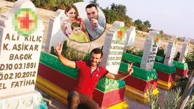 Bebek katili terör mezarlığında