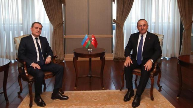 Dışişleri Bakanı Mevlüt Çavuşoğlu, Azerbaycanlı mevkidaşı Bayramov ile görüştü