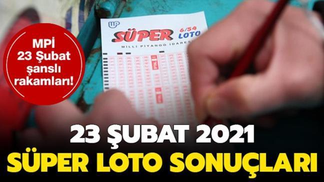 Süper Loto sonuçları 23 Şubat 2021