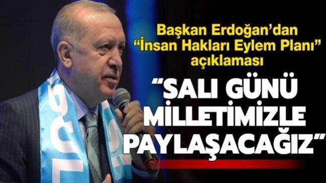Başkan Erdoğan: Önümüzdeki salı İnsan Hakları Eylem Planını paylaşacağız