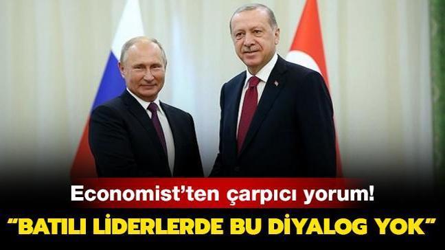 Economist'ten dikkat çeken Başkan Erdoğan-Putin yorumu: Batılı liderlerde bu diyalog yok