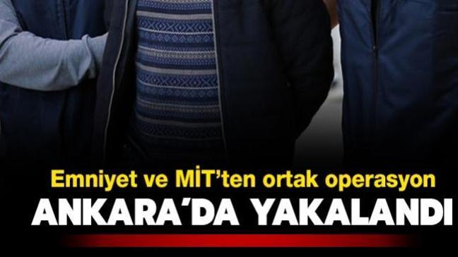 Emniyet ve MİT'ten DEAŞ operasyonu: Ankara'da yakalandı