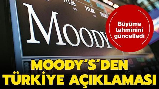 Son dakika haberi: Moody's, Türkiye için büyüme beklentisini yükseltti