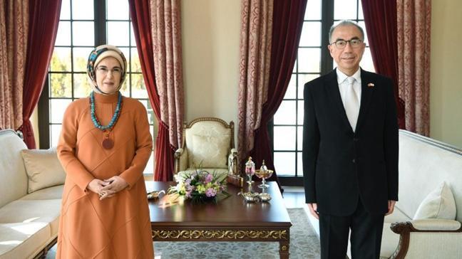 Emine Erdoğan, Japonya'nın Ankara Büyükelçisi Kazuhiro Suzuki ile görüşme gerçekleştirdi