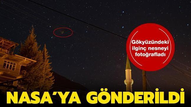 Türk fotoğrafçı tesadüf eseri gökyüzünde beliren ilginç nesneyi fotoğraflamayı başardı