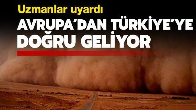 Türkiye hafta sonu çöl tozunun etkisine girecek