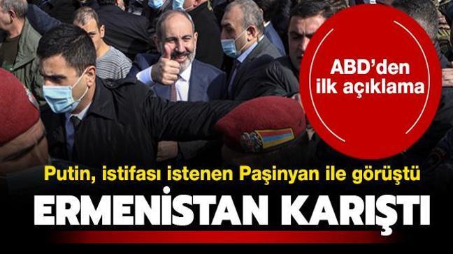 Ermenistan karıştı... Putin, askerlerce istifası istenen Paşinyan ile görüştü