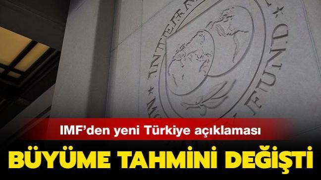 IMF'den yapılan yeni açıklamada Türkiye'nin büyüme tahmini 1 puan yükseltildi