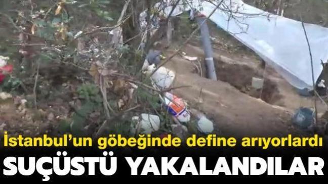 İstanbul'un göbeğinde define arıyorlardı... Suçüstü yakalandılar