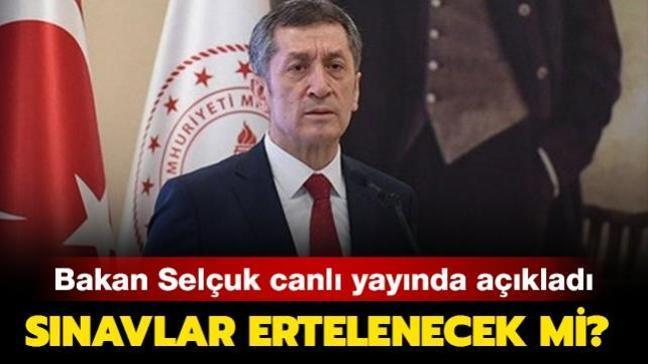 """Sınavlar ertelenecek mi"""" Ziya Selçuk açıkladı"""