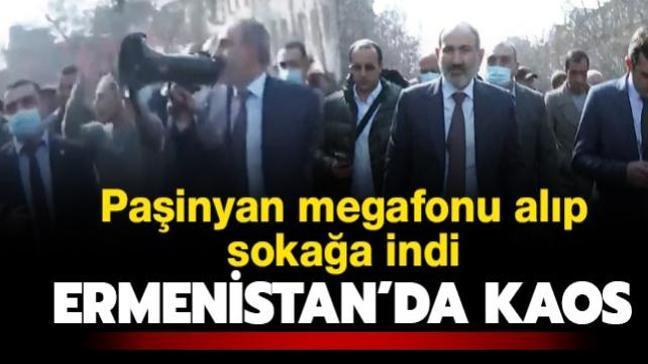 Son dakika haberi: Ermenistan ordusundan Paşinyan'a istifa çağrısı! Megafonu alıp sokağa indi