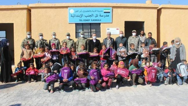 Barış Pınarı bölgesinde eğitime tam destek... Türkiye'nin onardığı okullar açıldı