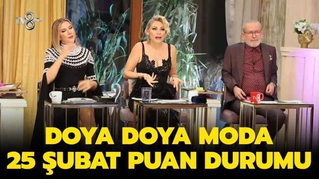"""25 Şubat Doya Doya Moda puan durumu yayında! Doya Doya Moda dün kim birinci oldu"""""""