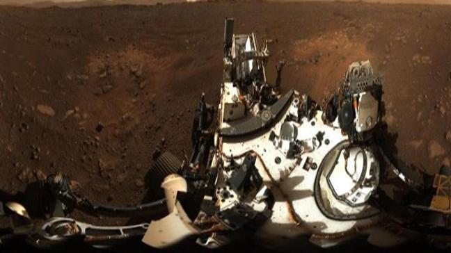 Perseverance Mars'ta panoramik fotoğraf çekti