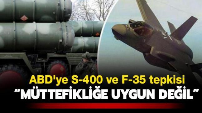 Bakan Akar'dan ABD'ye S-400 ve F-35 tepkisi: Müttefiklik ruhuna uygun değil