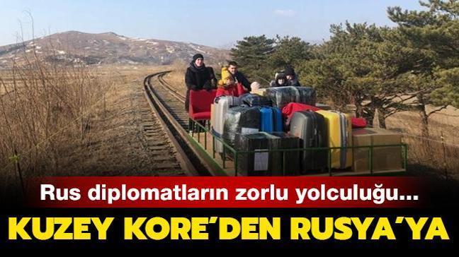 Rus diplomatlar K. Kore'den 1 kilometre boyunca drezin iterek ayrılmak zorunda kaldı