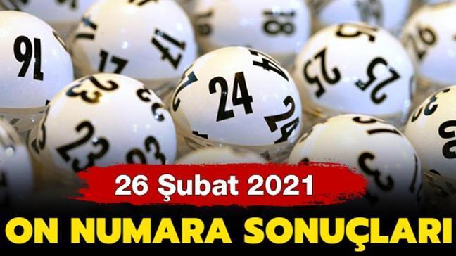 On Numara sonuçları 26 Şubat 2021