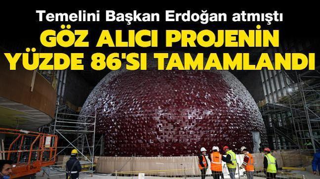 Taksim'de yapımı süren AKM'nin yüzde 86'sı tamamlandı