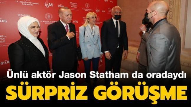 Ünlü aktör Jason Statham da oradaydı... Sürpriz görüşme