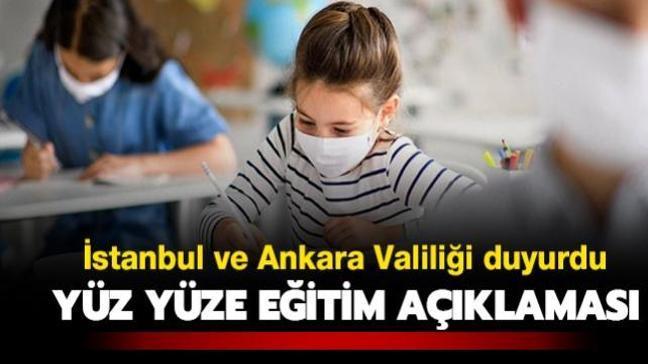 İstanbul ve Ankara Valiliği'nden okulların açılmasına ilişkin açıklama