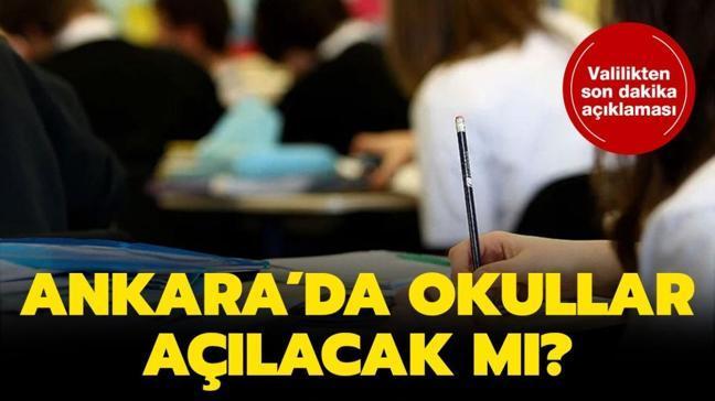 """Ankara'da okullar açılacak mı"""" Ankara'da okullar ne zaman açılacak"""""""