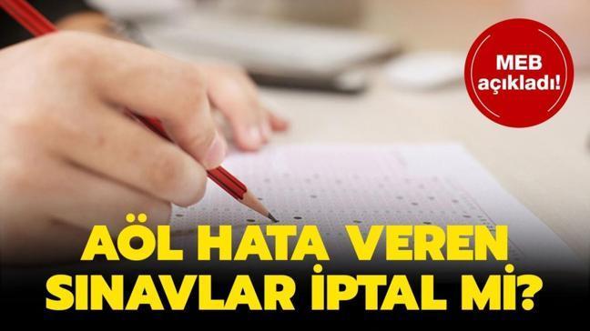 """Açık Lise (AÖL) telafi sınavı açıklaması: AÖL 1. dönem hata veren sınavlar iptal mi olacak"""""""