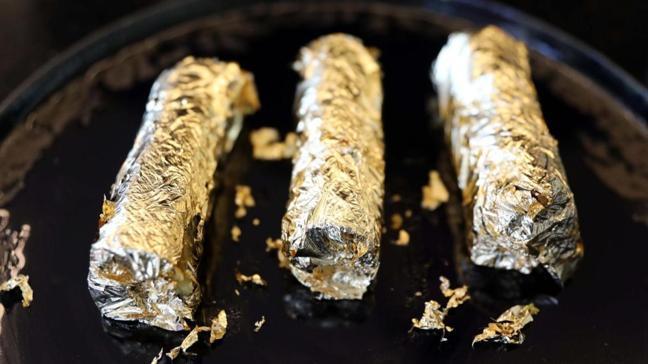 Gaziantep'te yeni trend altın kaplama burma kadayıf, kilosu 190 TL