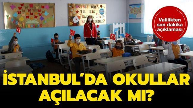 """İstanbul Valiliği yüz yüze eğitim açıklaması: İstanbul'da okullar açılacak mı, ne zaman açılacak"""""""
