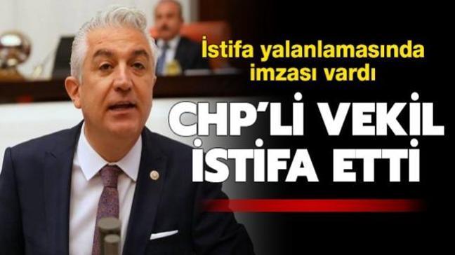 İstifa yalanlamasında imzası vardı... CHP Denizli milletvekili Teoman Sancar partisinden istifa etti