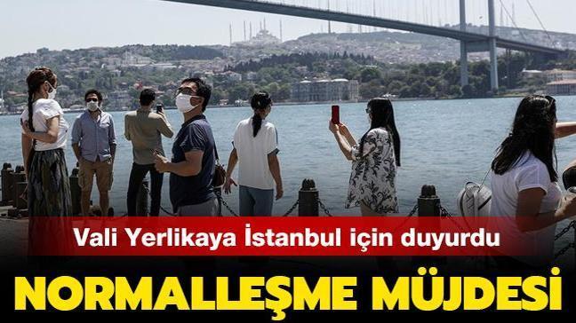 Vali Yerlikaya, İstanbul için normalleşme müjdesini sosyal medya hesabından duyurdu