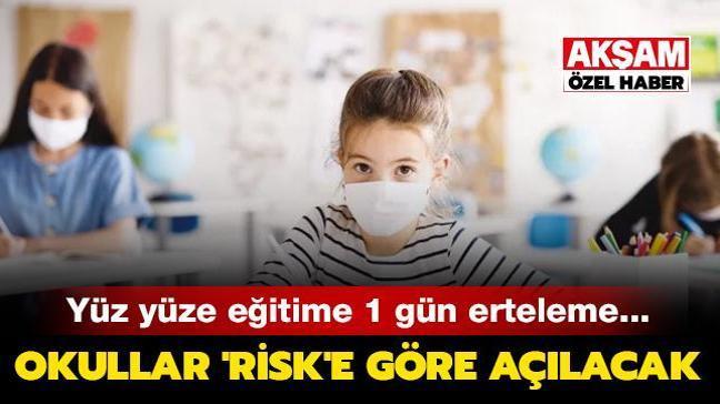 Okullar 'risk'e göre açılacak