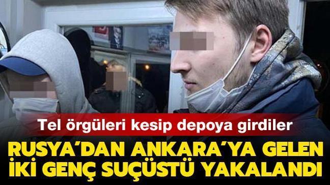 Rusya'dan Ankara'ya gelen iki grafitici genç, tren vagonunu boyarken yakalandı