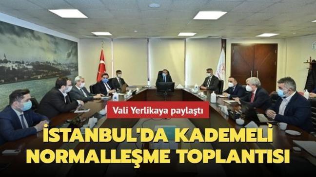 İstanbul'da kademeli normalleşme toplantısı