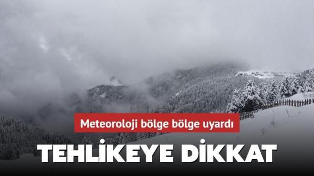 Meteoroloji'den yapılan açıklamada çığ tehlikesine karşın uyarıda bulunuldu