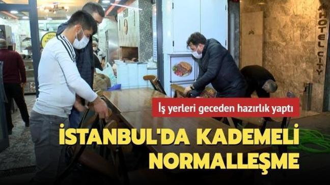 İstanbul'da kademeli normalleşme: İş yerleri geceden hazırlık yaptı