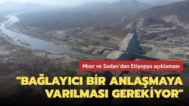 """Mısır ve Sudan'dan Etiyopya açıklaması: Hedasi Barajı konusunda """"bağlayıcı bir anlaşmaya varılması gerekiyor"""""""