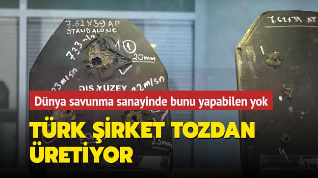 Türk şirket Nurol Teknoloji tozu yerli zırha dönüştürüyor