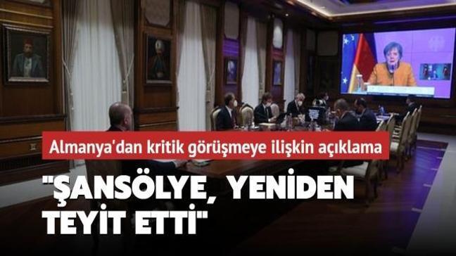 Almanya'dan Başkan Erdoğan-Merkel görüşmesiyle ilgili açıklama