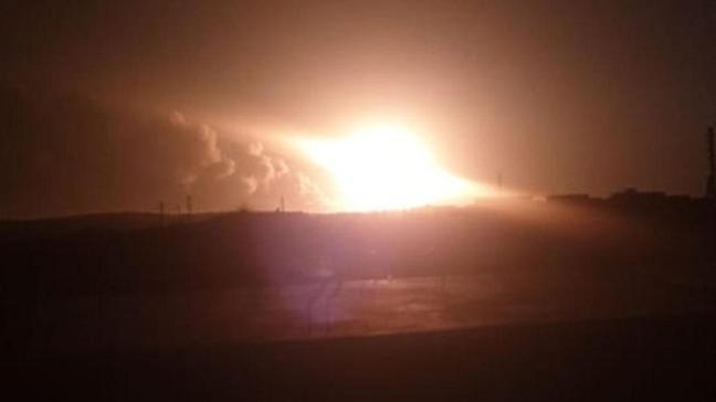 Suriye'nin kuzeyindeki Terhin bölgesine balistik füze saldırısı