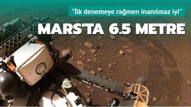 NASA'nın keşif aracı Perseverance Mars'ta ilk test sürüşünü gerçekleştirdi