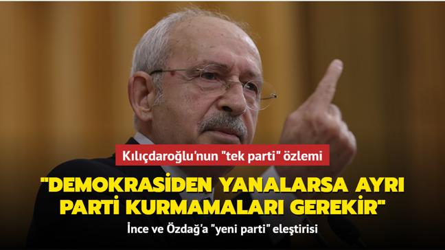 """Kılıçdaroğlu'ndan """"yeni parti"""" açıklaması: Türkiye'nin ayrı partiler kurmaya ihtiyacı yok"""