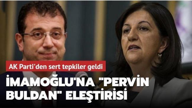 """CHP'li İBB Başkanı İmamoğlu'nun """"Pervin Buldan"""" paylaşımına tepki yağdı"""