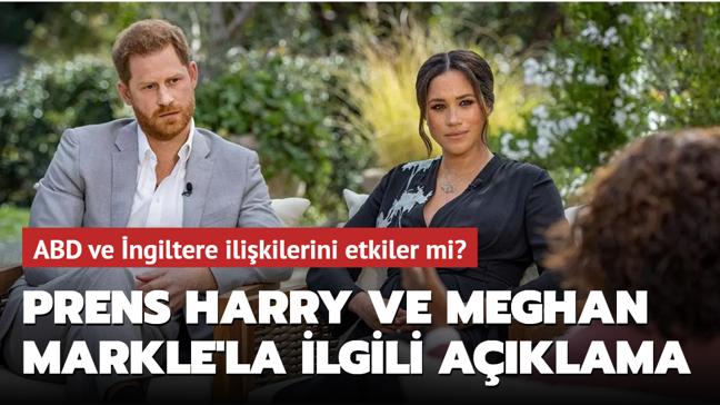 Son dakika haberleri... Beyaz Saray'dan Prens Harry ve Meghan Markle'la ilgili açıklama