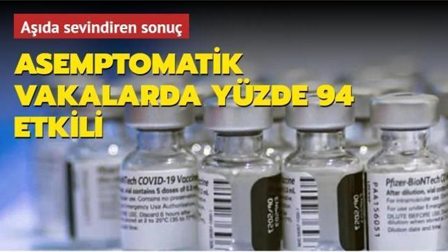 Pfizer'ın aşısı asemptomatik kişilerde yüzde 94 etkili