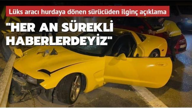 Dün akşam Kadıköy'de bir araç bariyerlere çarparak kaza yaptı! Lüks araç hurdaya döndü