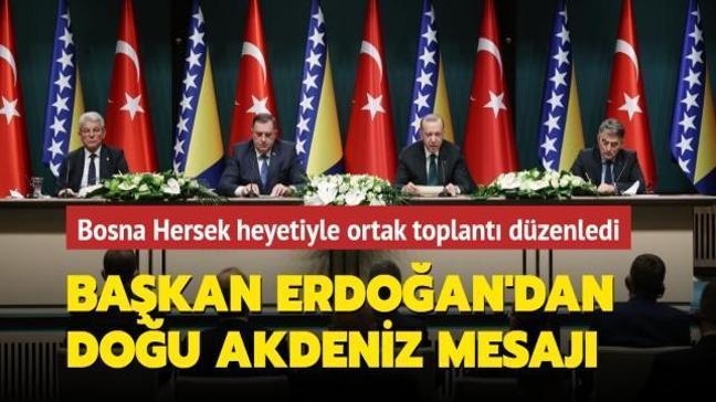 Bosna Hersek heyeti Ankara'da.... Başkan Erdoğan'dan imza töreninde önemli mesajlar