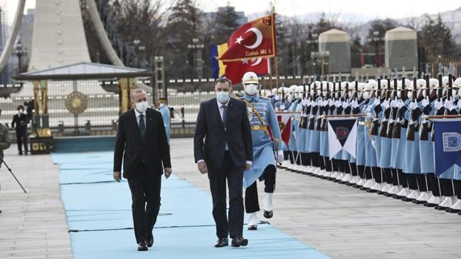 Başkan Erdoğan, Milorad Dodik ile Konsey üyelerini resmi törenle karşıladı