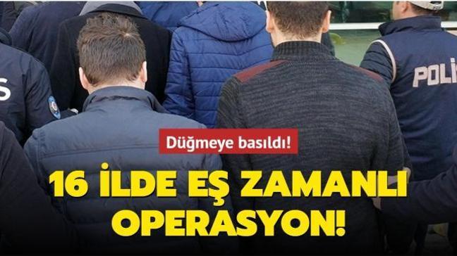 İstanbul merkezli 16 ilde büyük FETÖ operasyonu