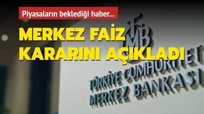 Merkez Bankası faiz kararını 200 baz puan artışla yüzde 19'a yükseltti